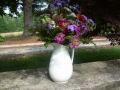 Antique Pitcher with Fresh Flowers